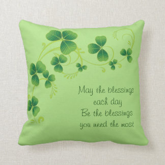 St. Patrick's Day Pillow-May The Blessings Cushion