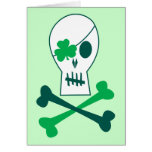St. Patrick's Day Pirate Greeting Card