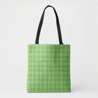 St. Patrick's Day Plaid Tote Bag