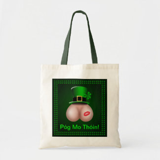 St Patrick's Day Póg Mo Thóin Budget Tote Bag