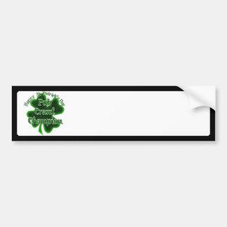 St Patrick's Day Pub Crawl Champion Bumper Stickers