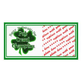 St Patrick's Day Pub Crawl Champion Photo Cards