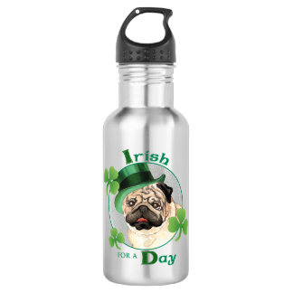St. Patrick's Day Pug 532 Ml Water Bottle