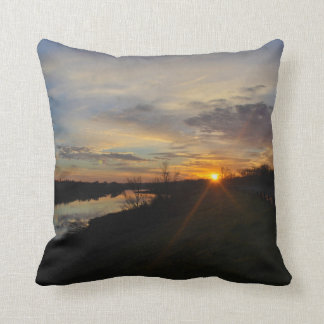 St. Patrick's Day Red River Sunrise Pillow
