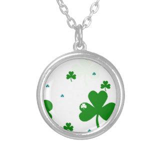 St. Patrick's Day Round Pendant Necklace