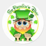 St Patrick's Day Round Sticker