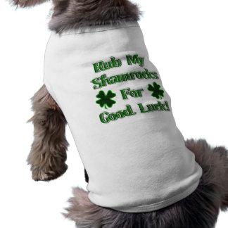 St. Patrick's Day - Rub My Shamrocks For Good Luck Sleeveless Dog Shirt