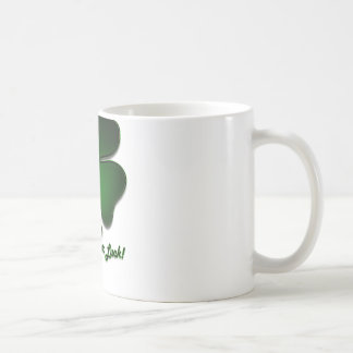 St. Patricks Day, Rub this for Luck! Coffee Mugs