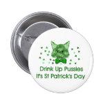 St Patrick's Day Scrapper Cat 6 Cm Round Badge
