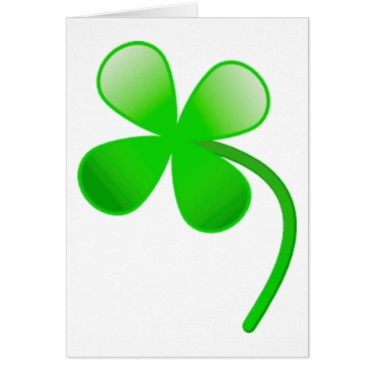 St. Patrick's Day Shamrock Card