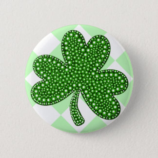 St Patricks Day Shamrock Classic 6 Cm Round Badge