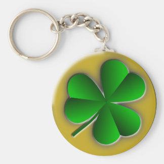 St Patricks Day Shamrock Classic Round Keychain