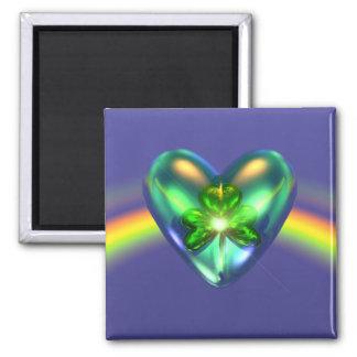 St. Patricks Day Shamrock Heart Magnet