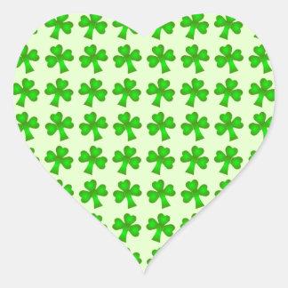 St Patrick's Day Shamrock Heart Sticker
