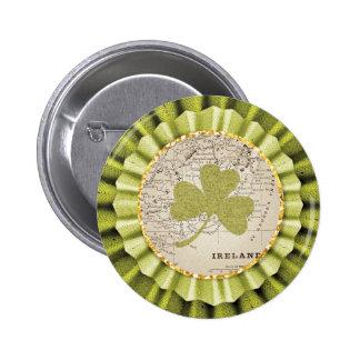 St. Patrick's Day Shamrock Leaf Button 2 Inch Round Button