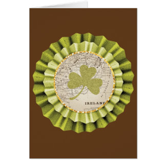 St. Patrick's Day Shamrock Leaf Greeting Card