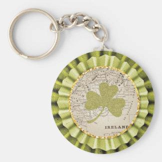 St. Patrick's Day Shamrock Leaf Keychain