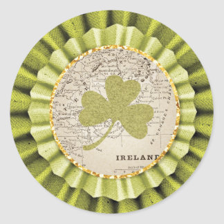 St. Patrick's Day Shamrock Leaf Sticker