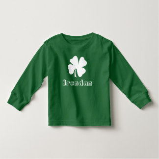 St. Patrick's Day | Shamrock Name Toddler T-Shirt