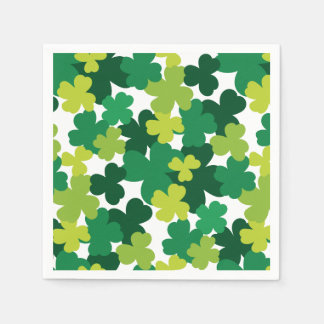 St. Patrick's Day Shamrock Pattern Disposable Serviette