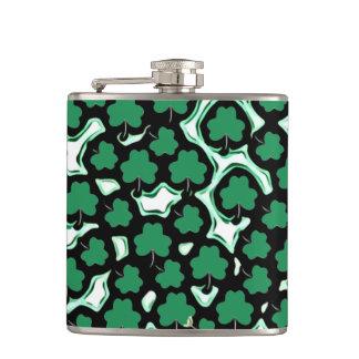 St. Patrick's Day shamrock pattern Flasks