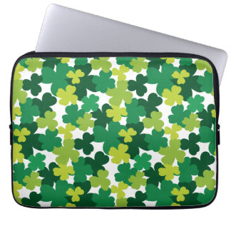 St. Patrick's Day Shamrock Pattern Laptop Sleeves