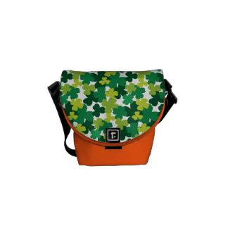 St. Patrick's Day Shamrock Pattern Messenger Bag