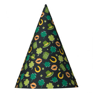 St. Patrick's Day Shamrock Pattern Party Hat