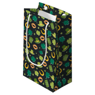 St. Patrick's Day Shamrock Pattern Small Gift Bag