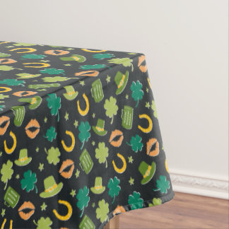 St. Patrick's Day Shamrock Pattern Tablecloth