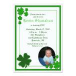 St. Patrick's Day Shamrock *PHOTO* Birthday 5x7 Personalized Invitations