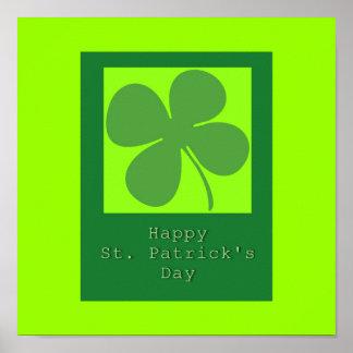 St. Patrick's Day Shamrock  Print