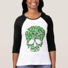 St Patricks Day Shamrock Skull T-Shirt