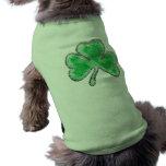 St. Patrick's Day Shamrock Sleeveless Dog Shirt