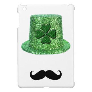 St. Patrick's Day Shamrock Sparkle Hat & Mustache iPad Mini Cases