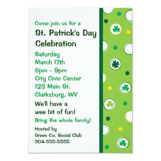 St. Patrick's Day Shamrocks 13 Cm X 18 Cm Invitation Card