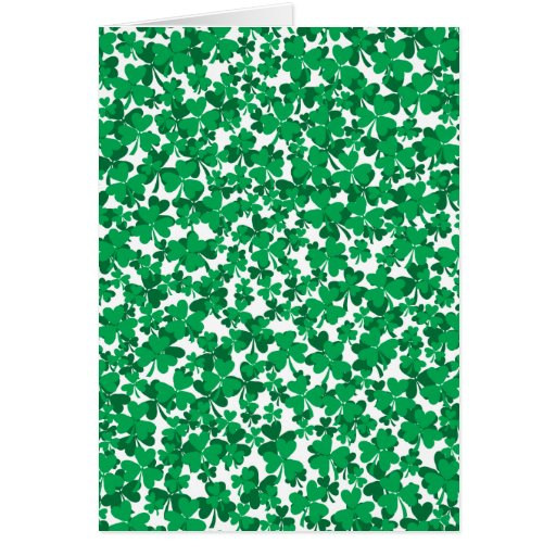 St Patrick's Day Shamrocks Card
