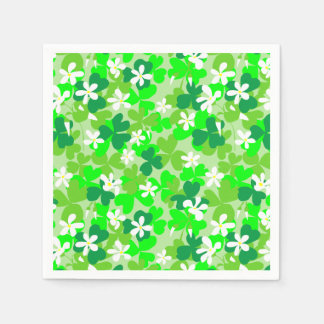 St Patrick's Day Shamrocks Disposable Serviettes