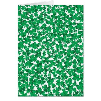 St Patrick's Day Shamrocks Greeting Card