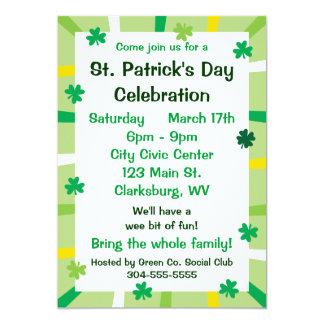 St. Patrick's Day Shamrocks Custom Invitations
