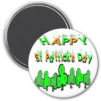 St Patrick's Day Shamrocks Refrigerator Magnet