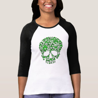 St Patricks Day Shamrocks Skull T-Shirt