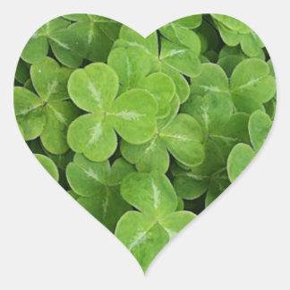 St. Patricks Day - Shamrocks Heart Sticker