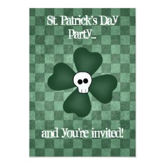 St Patricks Day skull and shamrock 13 Cm X 18 Cm Invitation Card
