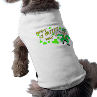 St. Patrick's Day Sleeveless Dog Shirt