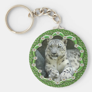 St. Patrick's Day-Snow Leopards Basic Round Button Key Ring