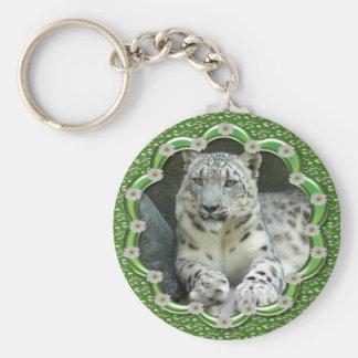 St. Patrick's Day-Snow Leopards Key Ring