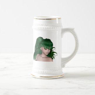 St. Patrick's Day Sprite 1 - Green Fairy Beer Steins