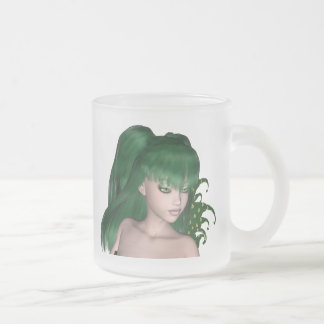 St. Patrick's Day Sprite 1 - Green Fairy Frosted Glass Mug