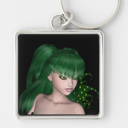 St. Patrick's Day Sprite 1 - Green Fairy Key Chains